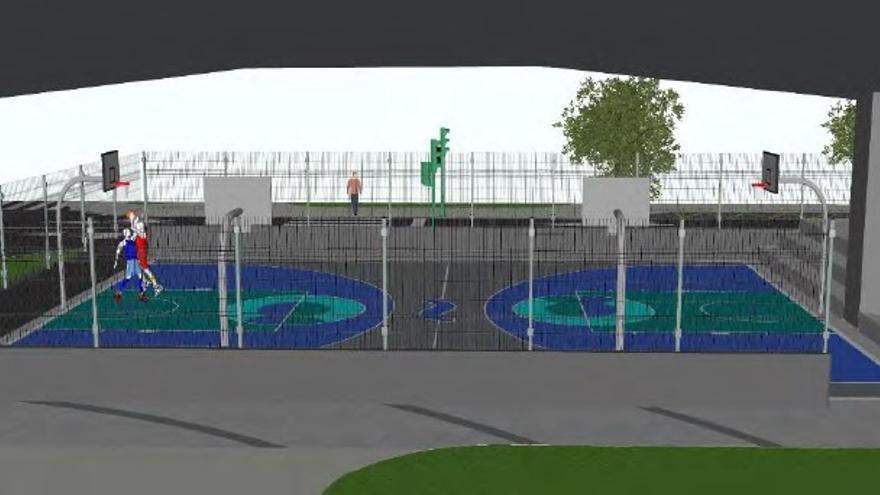 El Concello construirá una pista multideporte y un 'skatepark' debajo del viaducto de Alfonso Molina