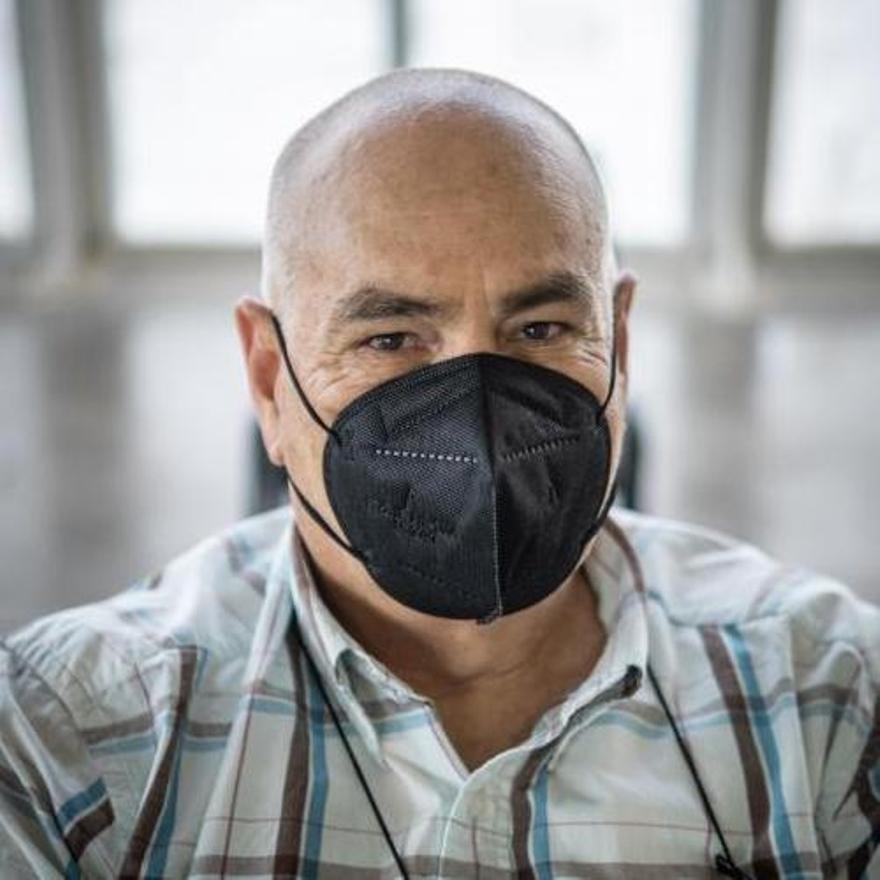 Julio Rodríguez, vacunado contra el coronavirus