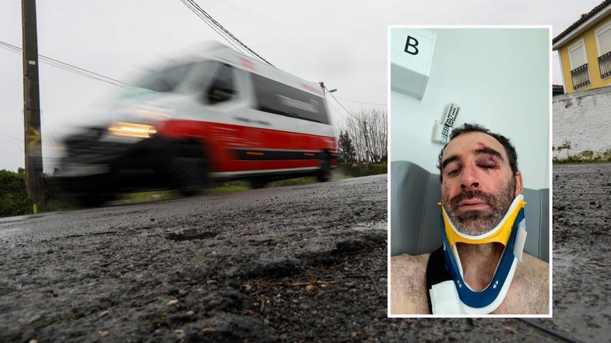 Sufre un grave accidente en bicicleta y busca a la pareja que lo socorrió