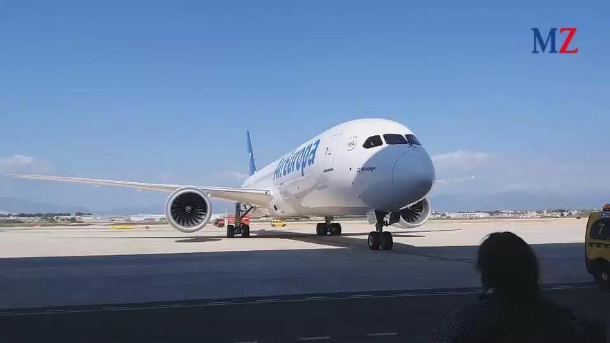 Große Bühne für den neuen Dreamliner von Air Europa auf Mallorca