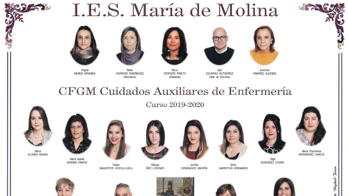 Descarga ya la orla del Grado de Cuidados Auxiliares de Enfermería del María de Molina de Zamora