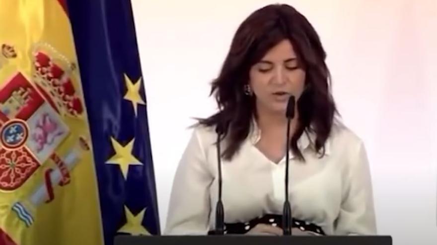 Ana Iris Simón y el Presidente