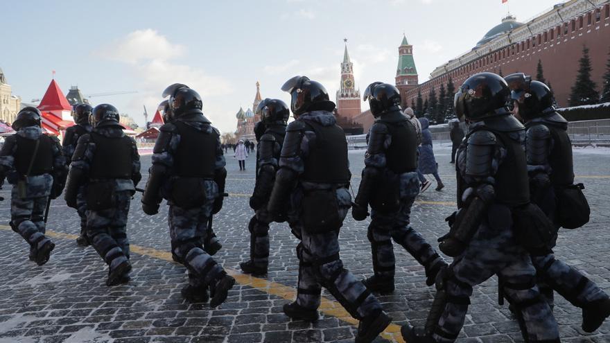 Más de un millar de personas detenidas en las protestas masivas de Rusia