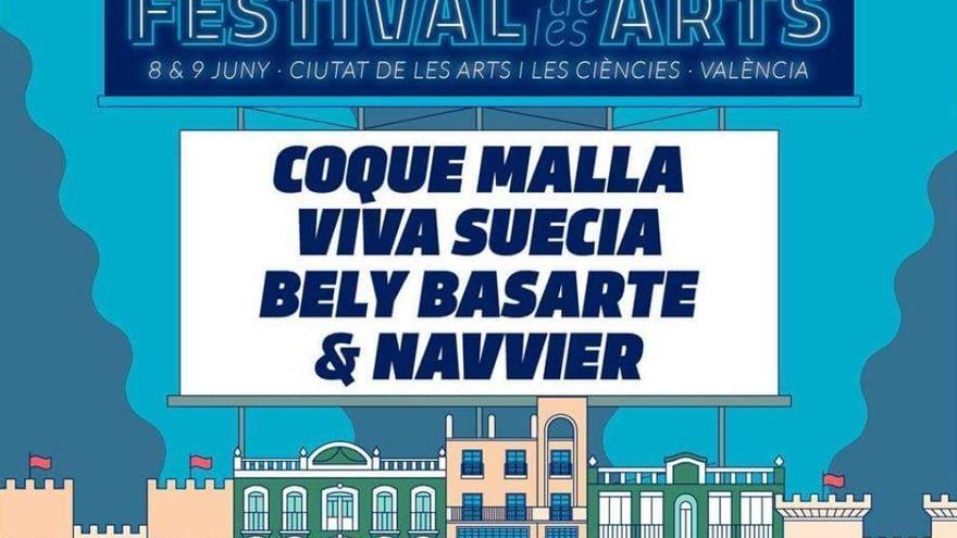 Coque Maya, Viva Suecia, Navvier y Belly Basarte, en el Festival de les Arts