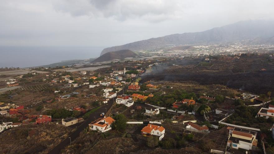 La lava del volcán de La Palma toma Todoque, a vista de dron