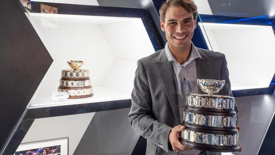 Rafael Nadal exhibe su quinta Copa Davis en su museo de Manacor