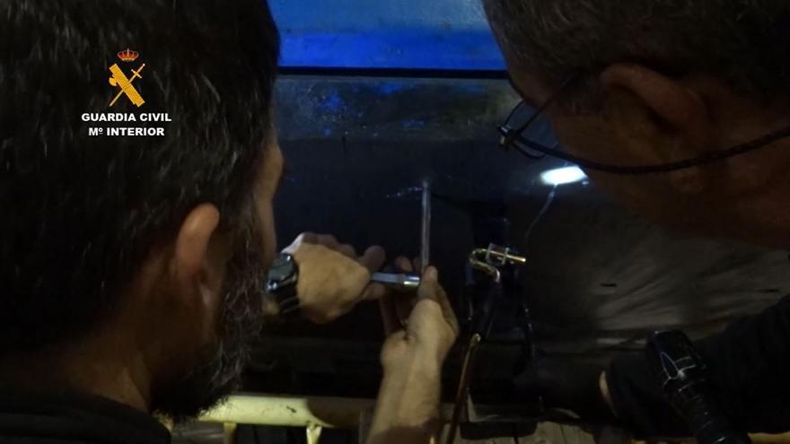 Operación Kemel de la Guardia Civil contra el tráfico de hachís en el puerto de Málaga