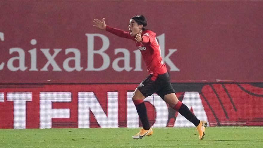 Vea el histórico gol de Luka Romero con el Mallorca, con un soberbio zurdazo, ante el Logroñés