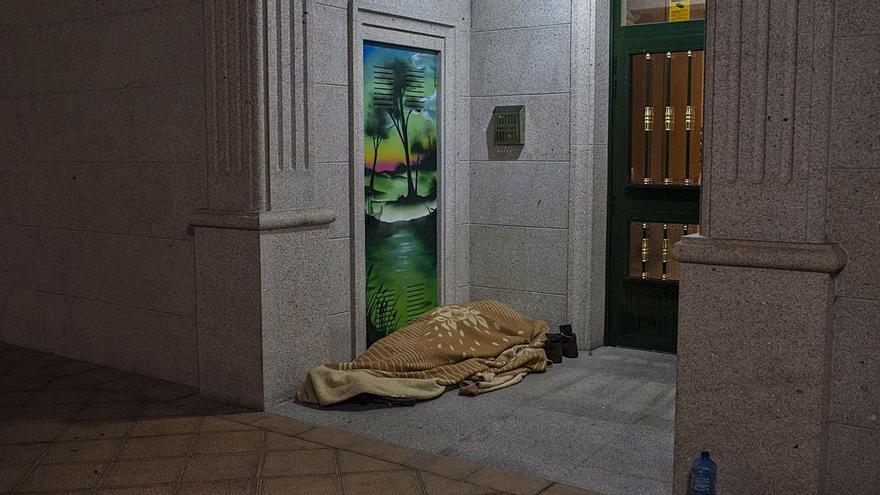 Más vulnerables en plena ola de frío: 35 sintecho duermen en Ourense en la calle o infraviviendas