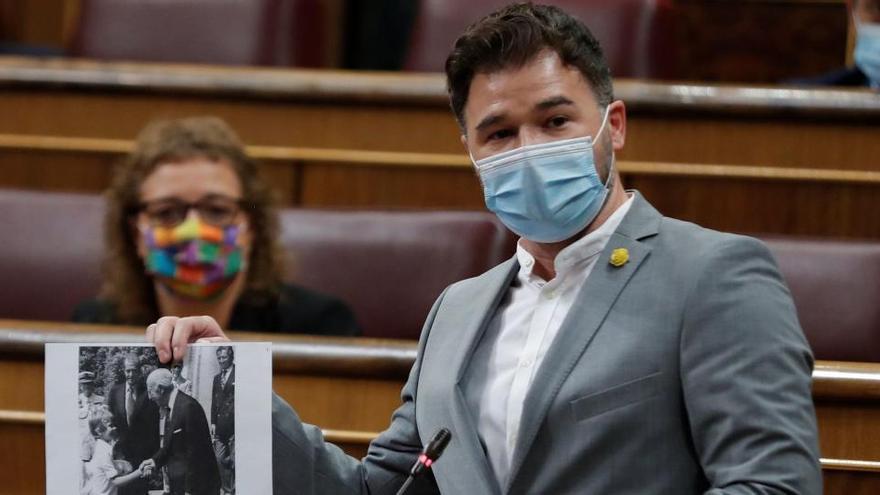 Rufián: «Tenen raó, a Felip VI el va votar un espanyol, Francisco Franco»