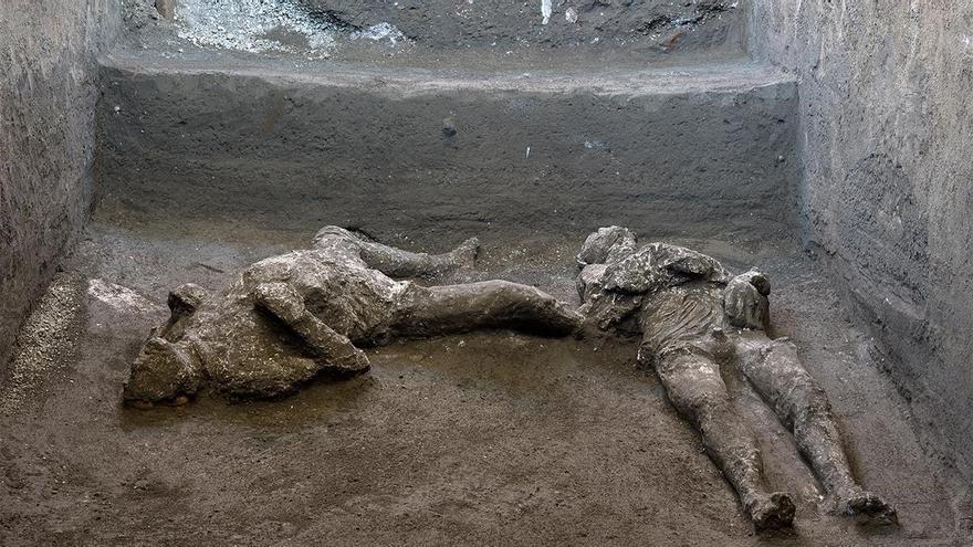 Hallazgo en Pompeya: un noble y su esclavo, víctimas del Vesubio