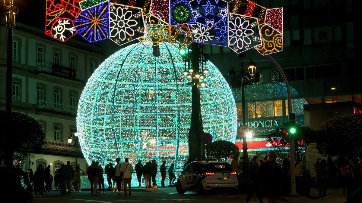 Vigo sube su apuesta: once millones de luces led en Navidad