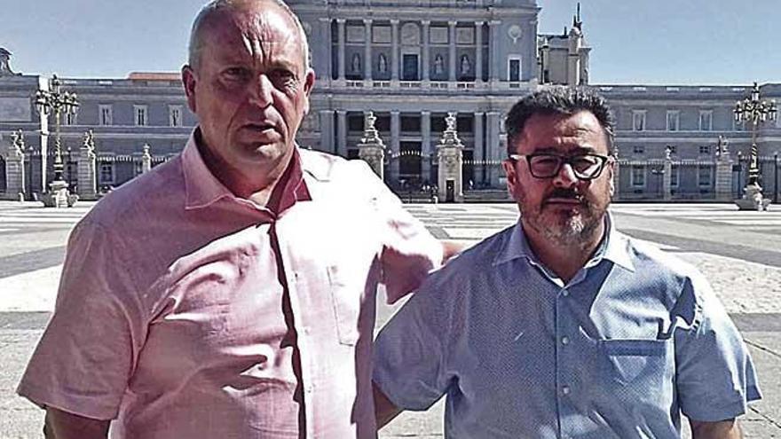Dos héroes de  la 'torrentada de Sant Llorenç' ante el Rey