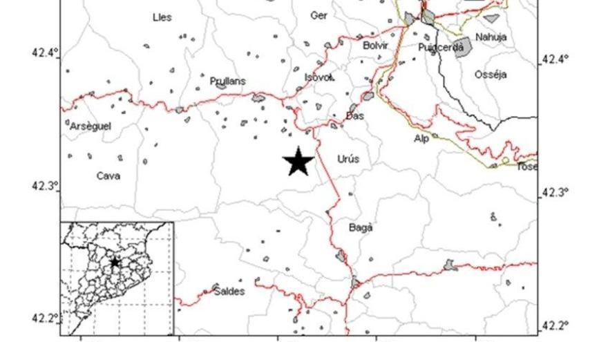Terratrèmol nocturn de magnitud 2,3 a la Cerdanya