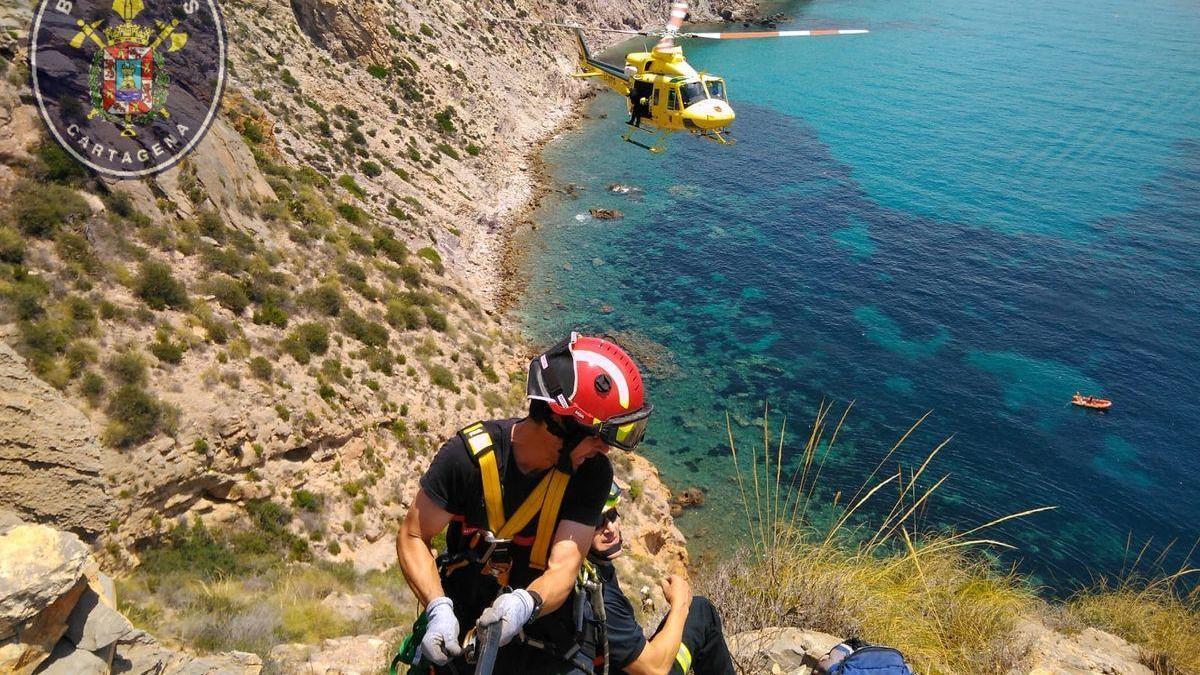 Los rescates en montaña en verano se triplican este año en Cartagena