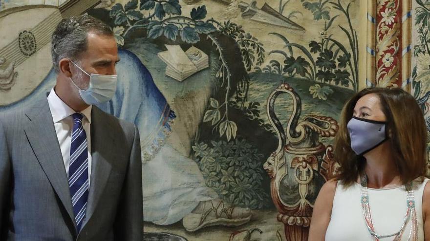 Audiencias de Felipe VI: pandemia y crisis en Baleares, nada sobre el Rey emérito