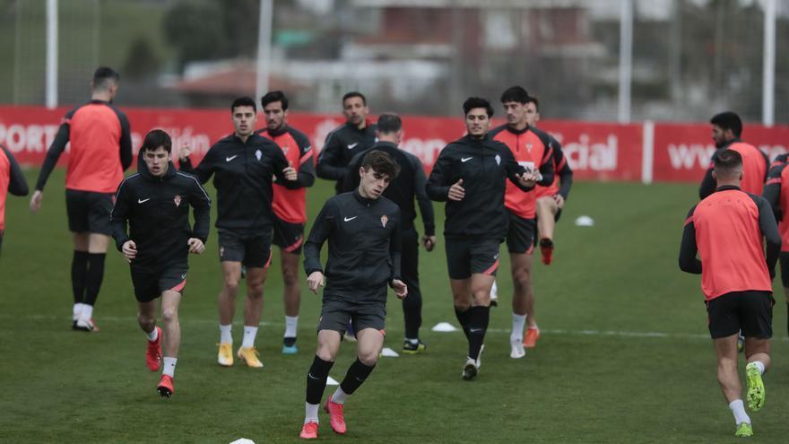 Primer entrenamiento de Guille Rosas como profesional