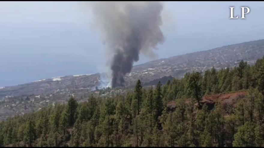 Incendio forestal en Tijarafe, La Palma