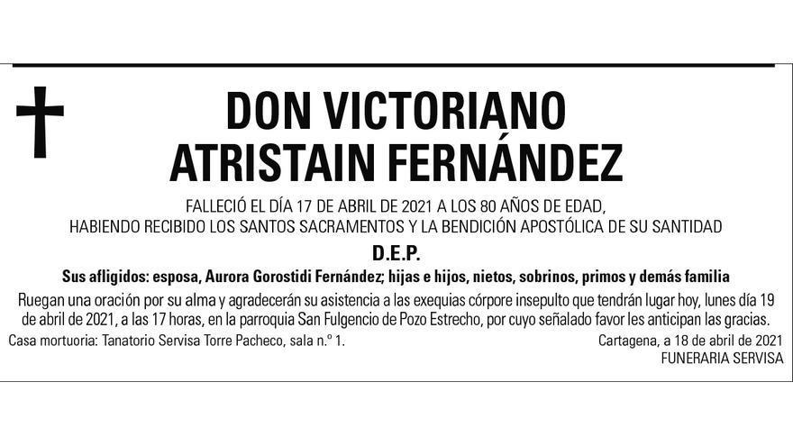 D. Victoriano Atristain Fernández
