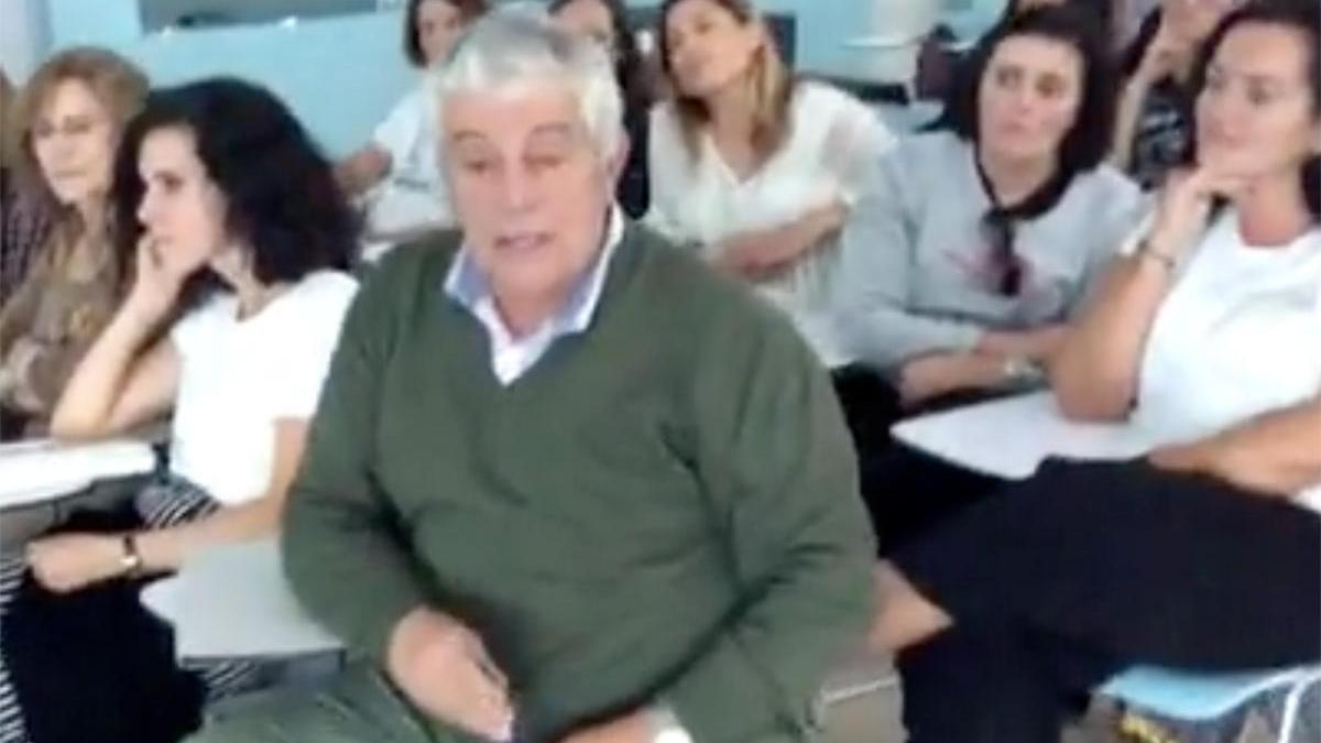 Antonio Valverde en uno de los talleres del Foro de Educación el año 2018