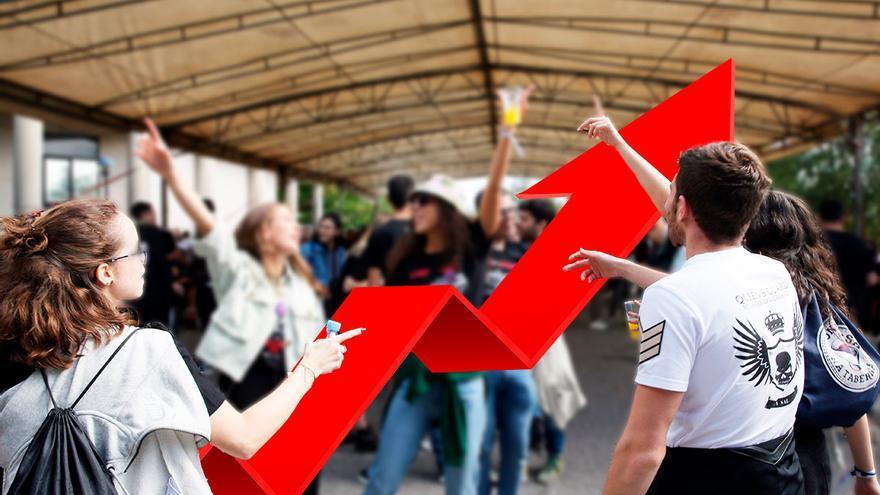La incidencia en los gallegos de 20 a 29 años se ha cuadruplicado en solo doce días