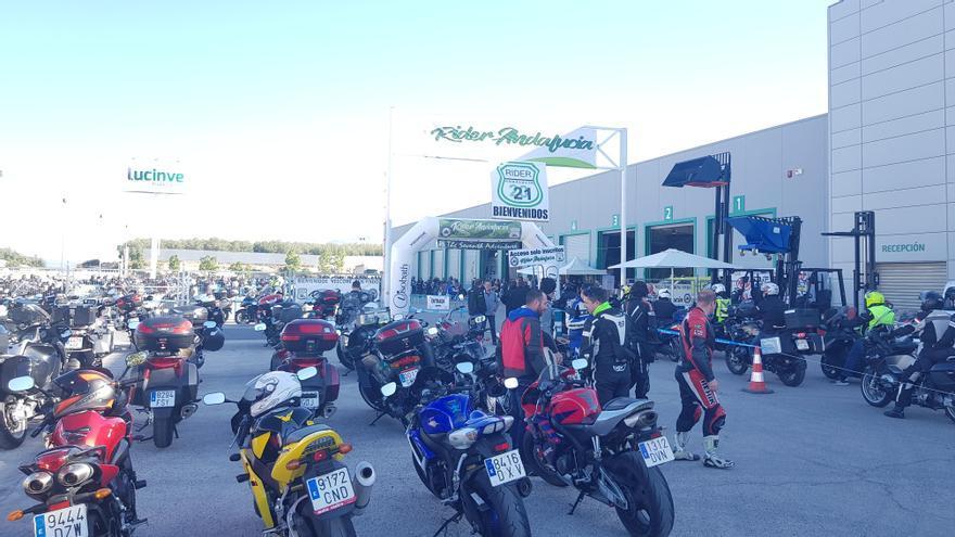 Más de 1.300 motos se concentran en Lucena en la séptima Rider Andalucía