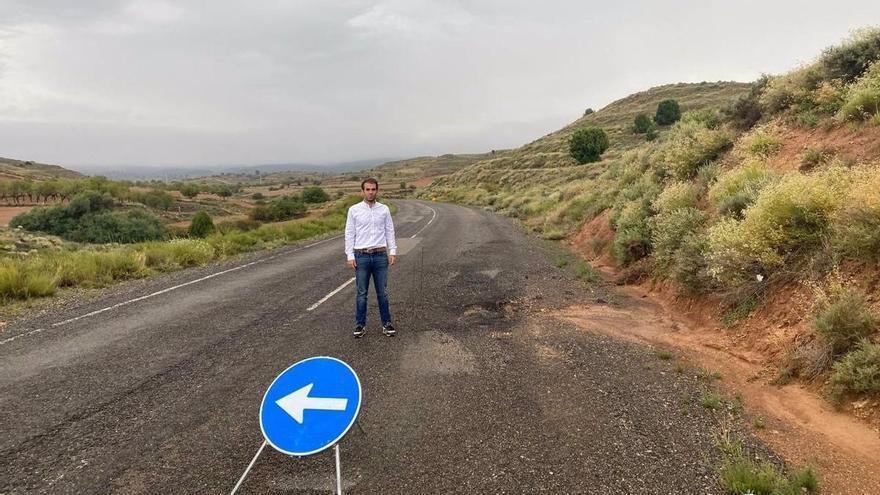 Teruel solicita a la diputación que arregle la carretera que une Castralvo y Aldehuela
