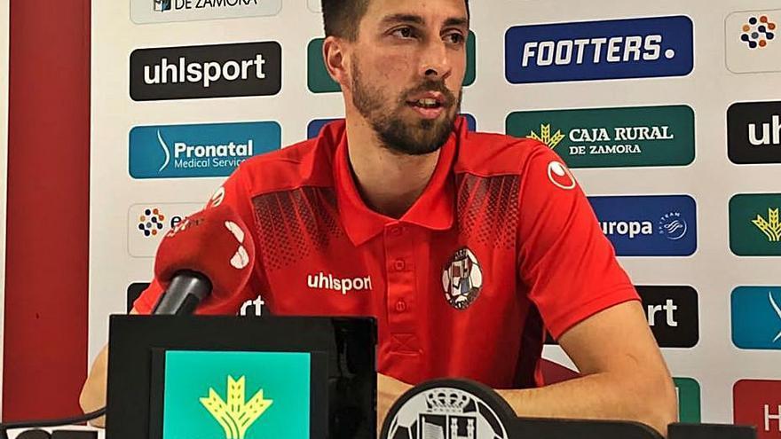 """Coque, jugador del Zamora CF: """"Unionistas es un equipo muy sólido y fuerte en todas sus líneas"""""""