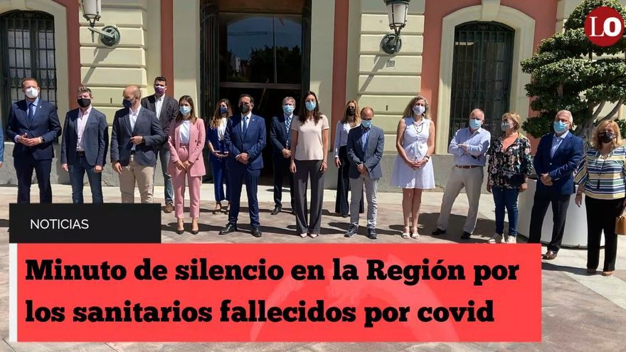 Minuto de silencio en la Región por los sanitarios fallecidos por covid