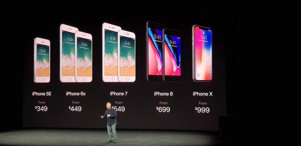 Así queda toda la gama del iPhone  en EEUU.