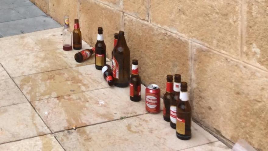 El rastro indeseable de la fiesta en Dénia