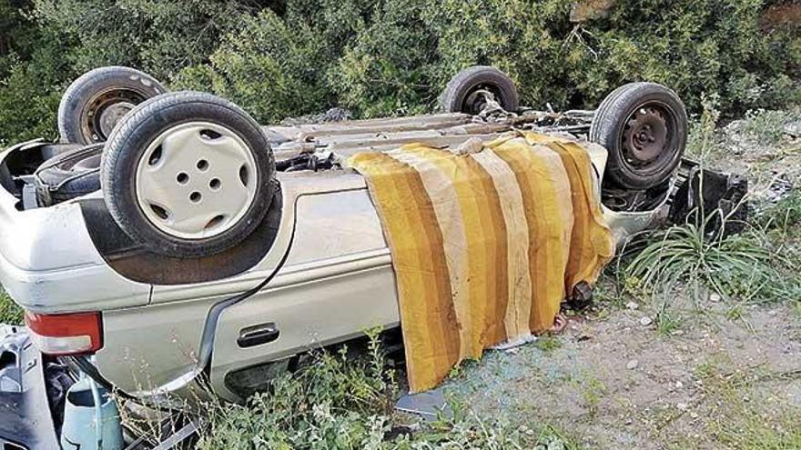 Muere un motorista al salirse de la carretera entre Campos y sa Ràpita