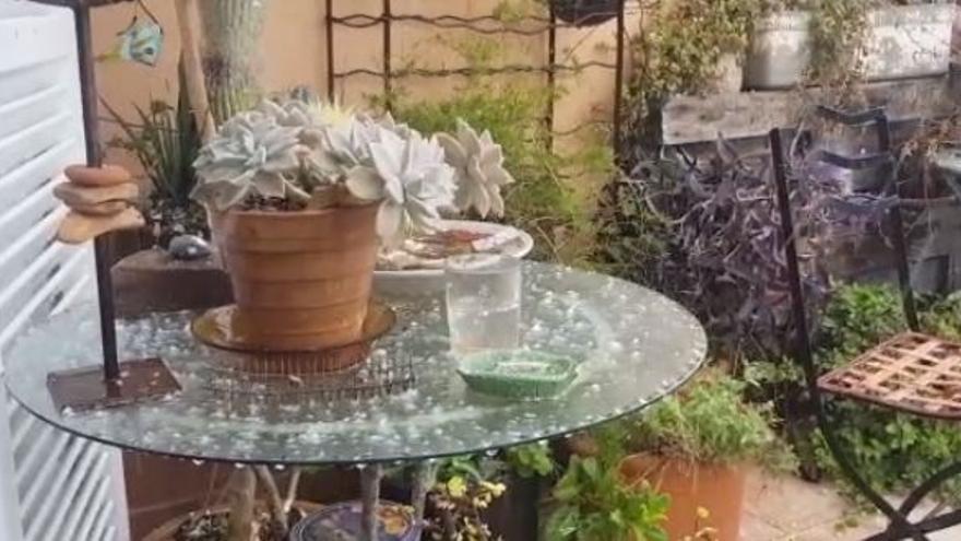 Las lluvias provocan una granizada en Palma