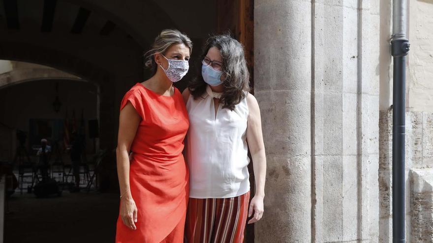 El acto que prepara Oltra con Yolanda Díaz acentúa los recelos en Més Compromís