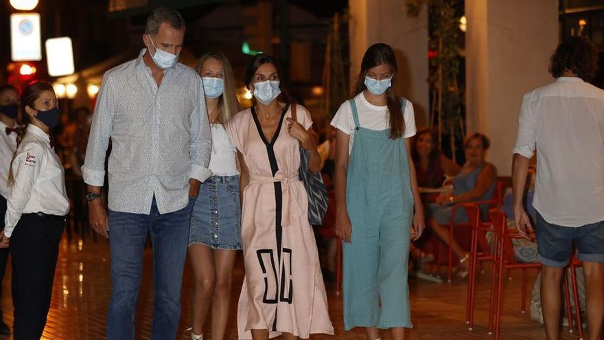 Königsfamilie verabschiedet sich mit Abendessen von Mallorca