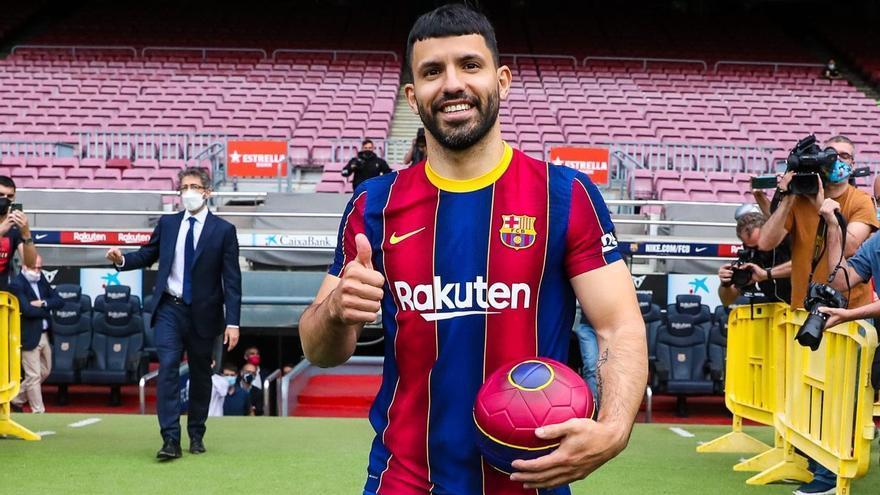 Kun Agüero, presentado como nuevo jugador del FC Barcelona