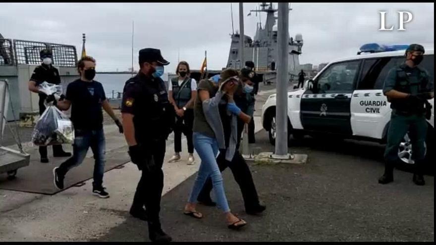 Doce detenidos tras interceptar 1.200 kilos de cocaína con destino a Galicia