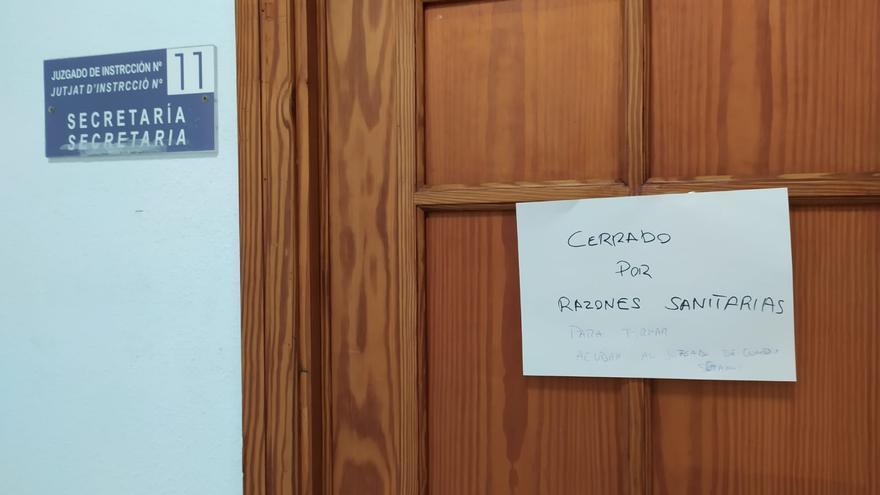 Un juzgado de instrucción de Palma, cerrado por el positivo de una funcionaria