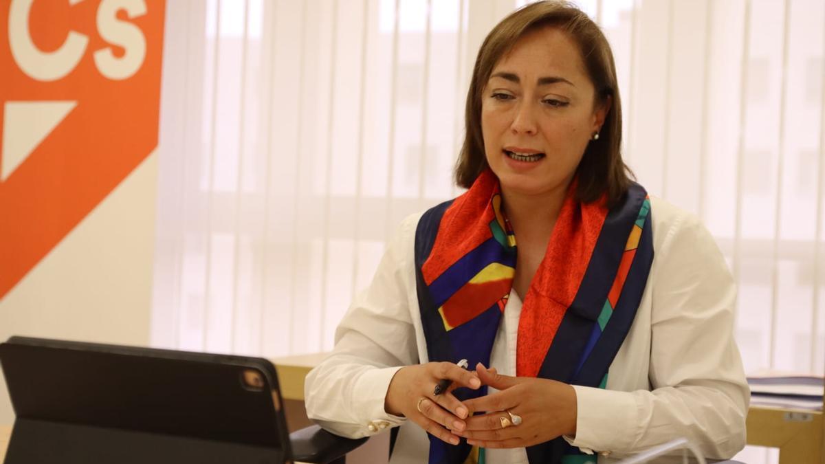 La procuradora de Ciudadanos por Zamora, María Teresa Gago.