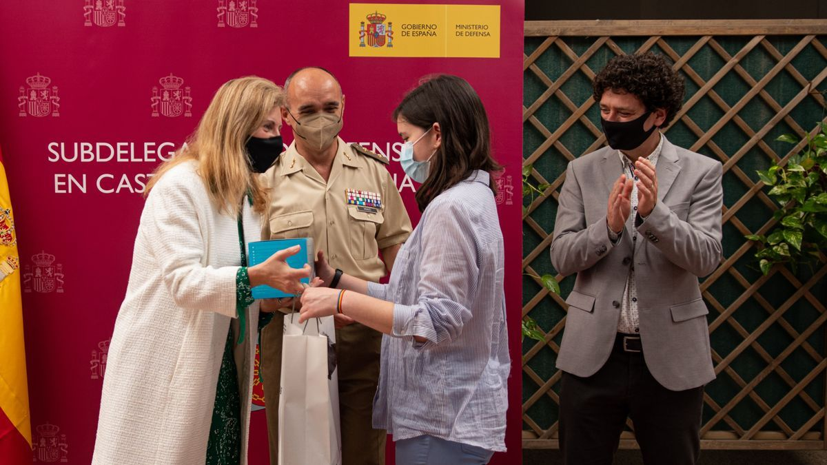Amparo Marco, en el acto de entrega de los premios Carta a un Militar Español