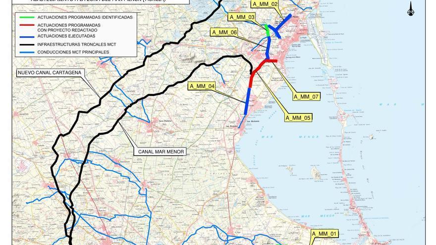La Mancomunidad de los Canales del Taibilla modernizará la red de agua potable del Mar Menor