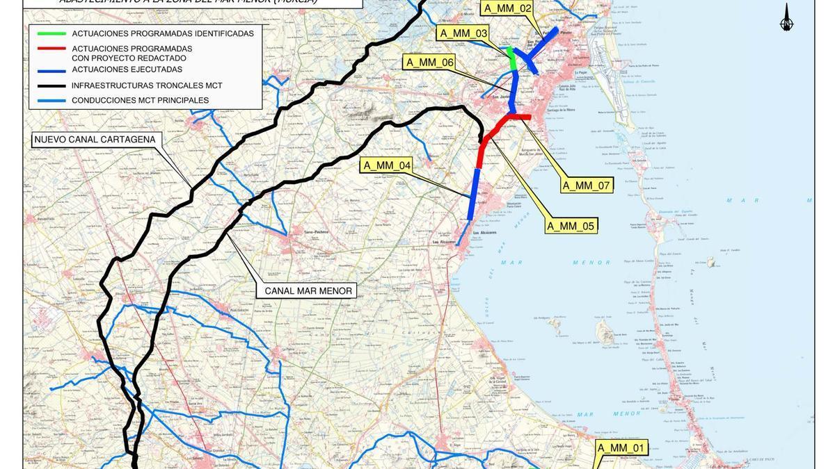 La MCT renovará la red de agua potable de los municipios del Mar Menor