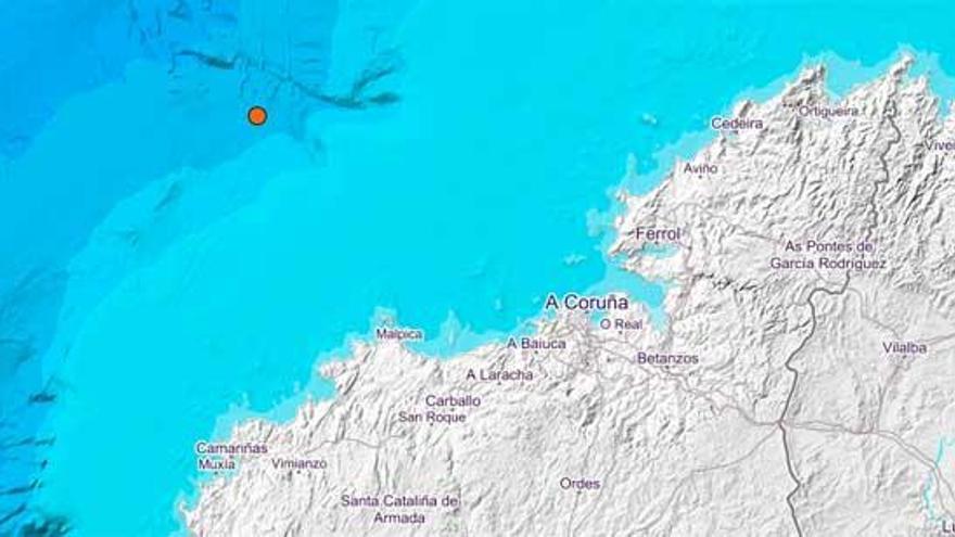 Un temblor de magnitud 3,3 sacude la costa de Galicia