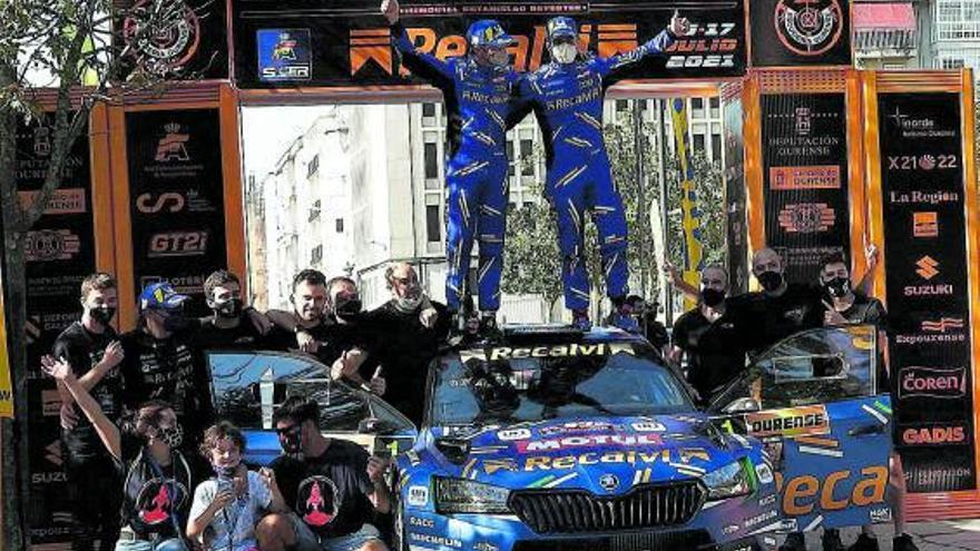 'Cohete' Suárez se proclama campeón del rally de Ourense