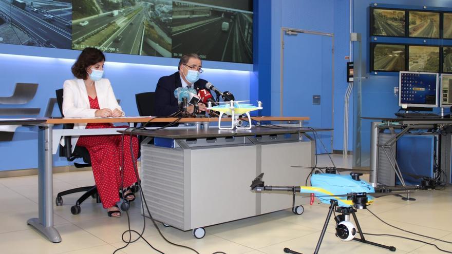 Cuatro drones vigilarán las carreteras andaluzas