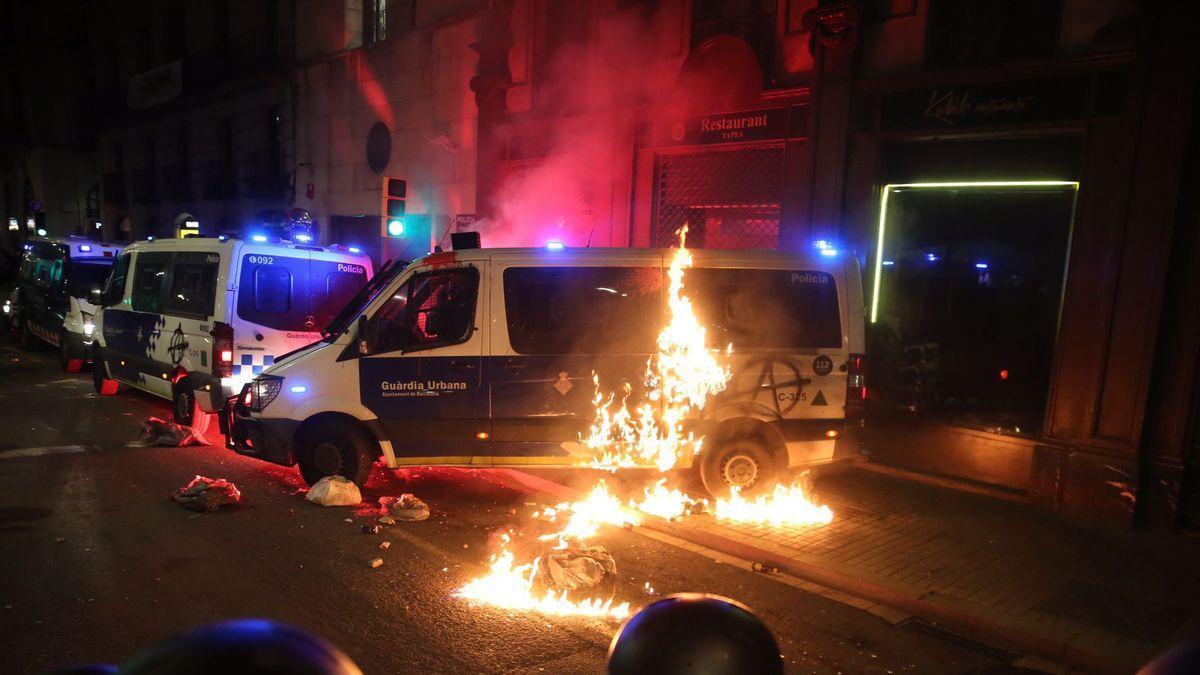 Al menos 10 detenidos en Barcelona tras otra manifestación en favor de Hasél