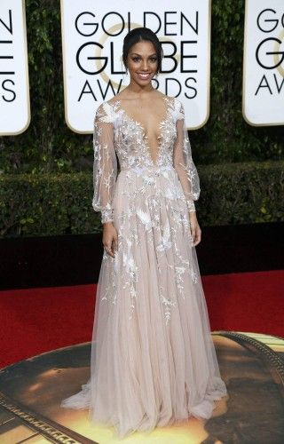 Corrine Foxx arrives at the 73rd Golden Globe Awards in Beverly Hills