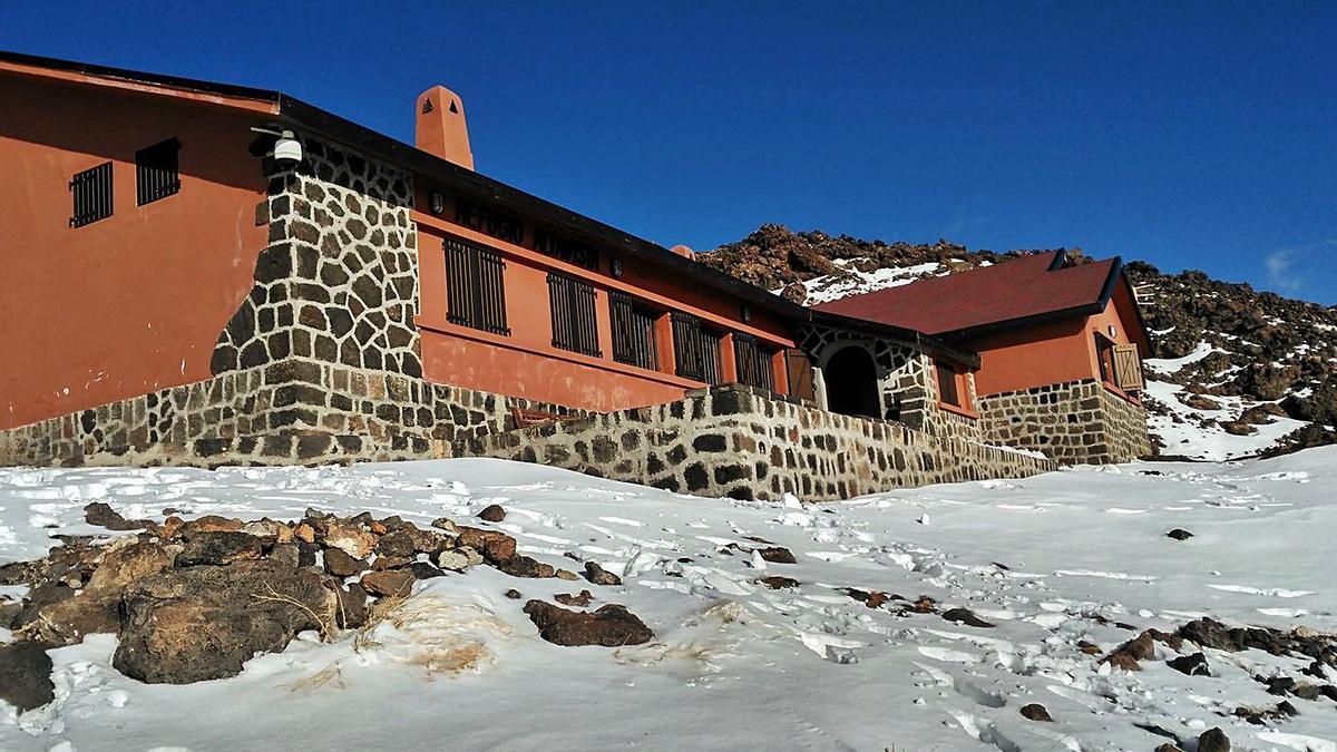 Una imagen del Refugio del Pico del Teide.