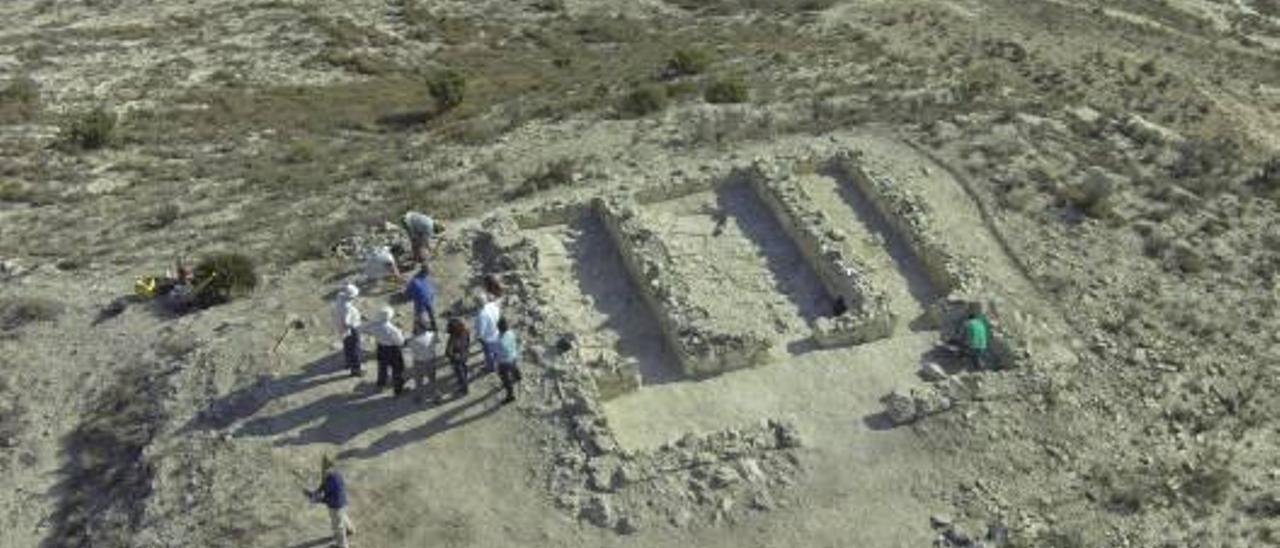 Imagen aérea del asentamiento íbero de Aspe