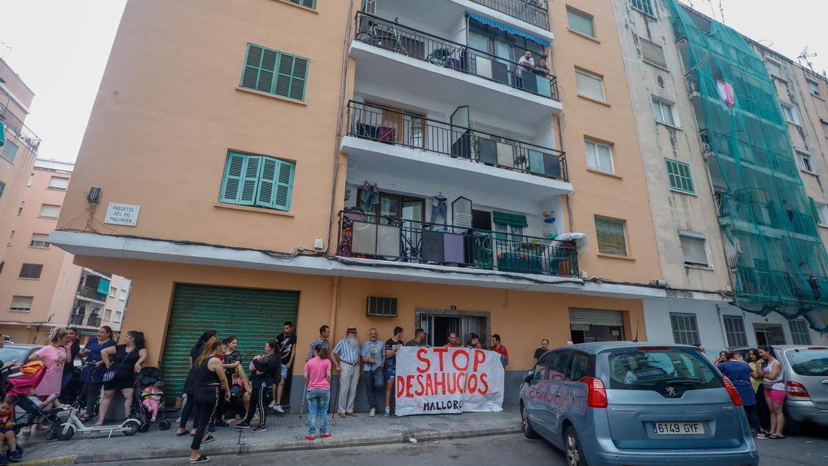 Imagen de archivo de un desahucio en Palma.
